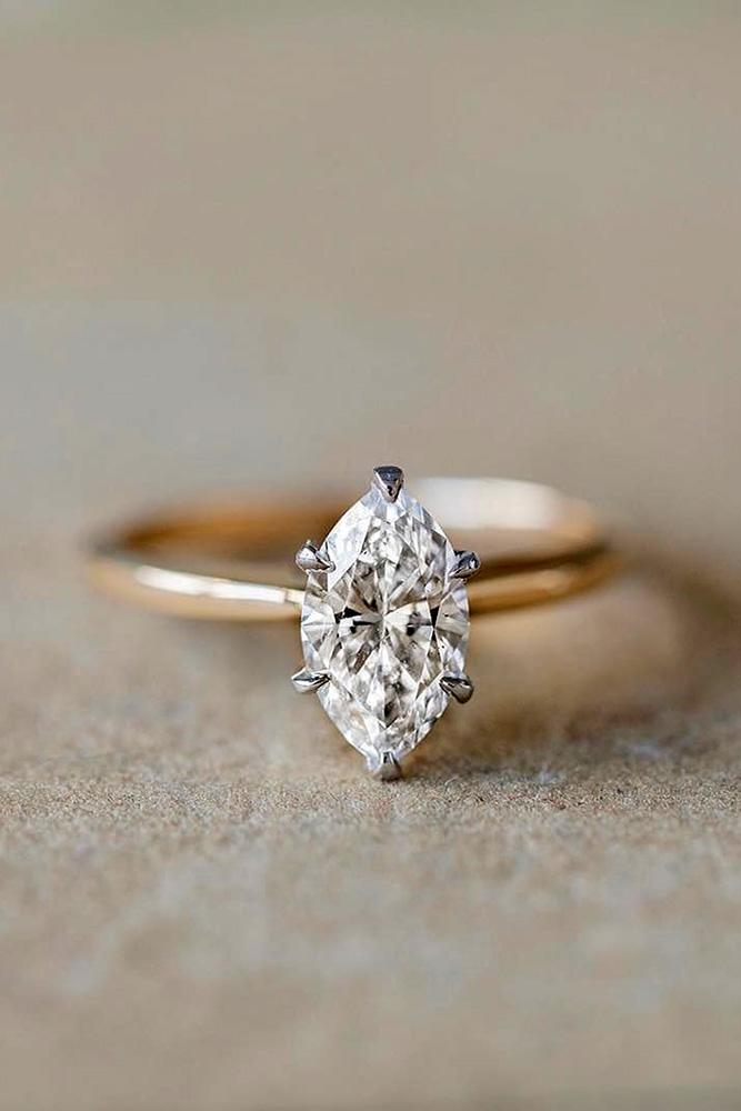 simple engagement rings rose gold engagement rings marquise cut engagement rings solitaire rings