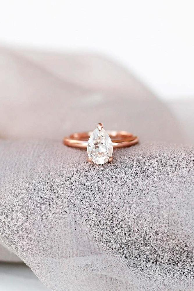 simple engagement rings rose gold engagement rings pear shaped engagement rings solitaire rings
