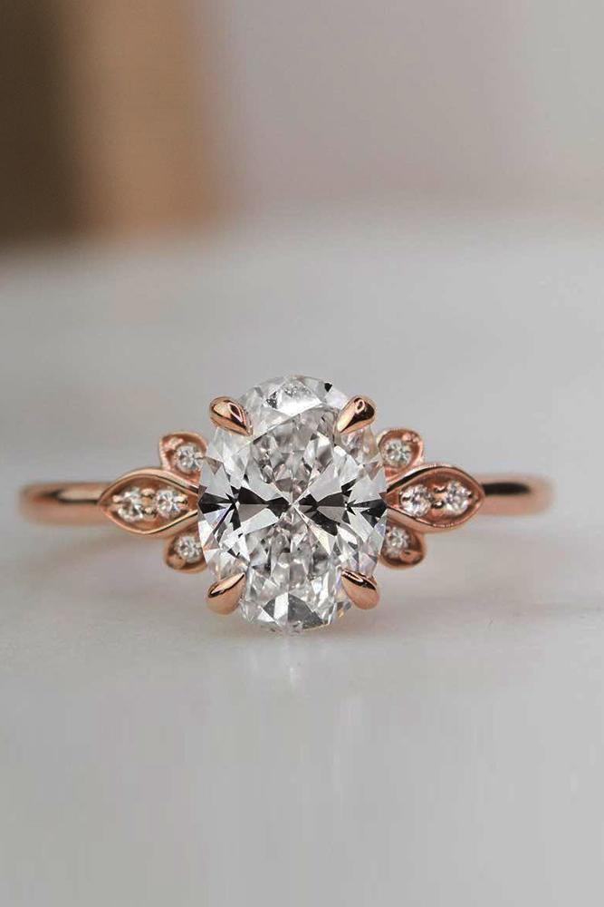 unique engagement rings floral engagement rings diamond engagement rings round engagement rings rose gold engagement rings