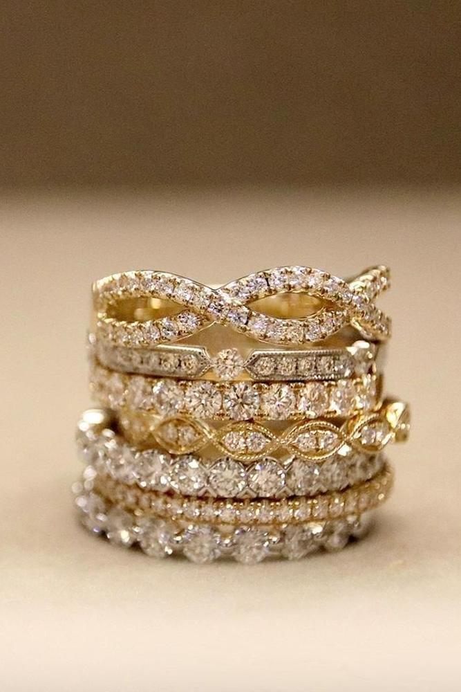 unique wedding rings diamond wedding bands rose gold wedding rings round diamond wedding bands