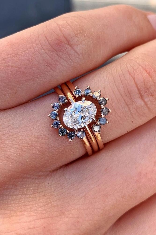 unique wedding rings unique engagement rings diamond engagement rings rose gold engagement rings oval cut engagement rings