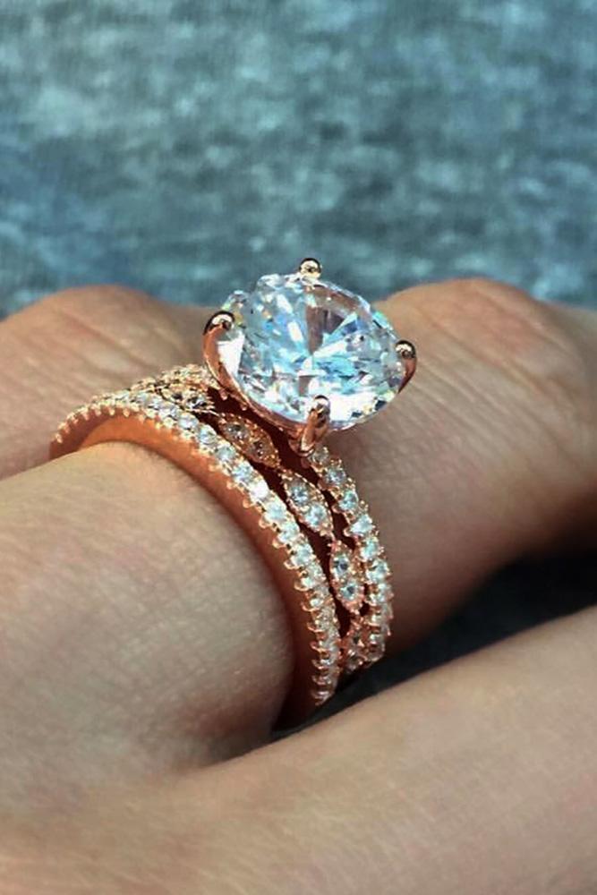 unique wedding rings unique engagement rings diamond engagement rings rose gold engagement rings round cut engagement rings