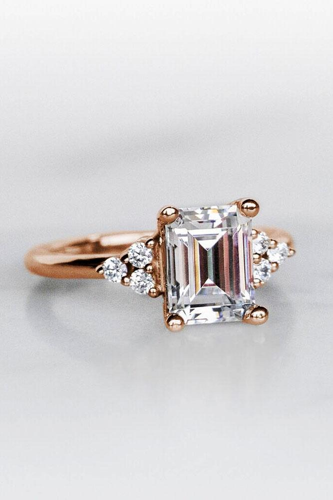 diamond engagement rings emerald cut diamond engagement rings rose gold engagement rings floral engagement rings