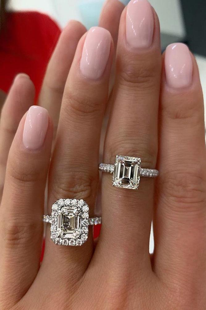 diamond engagement rings emerald cut diamond engagement rings white gold engagement rings halo engagement rings