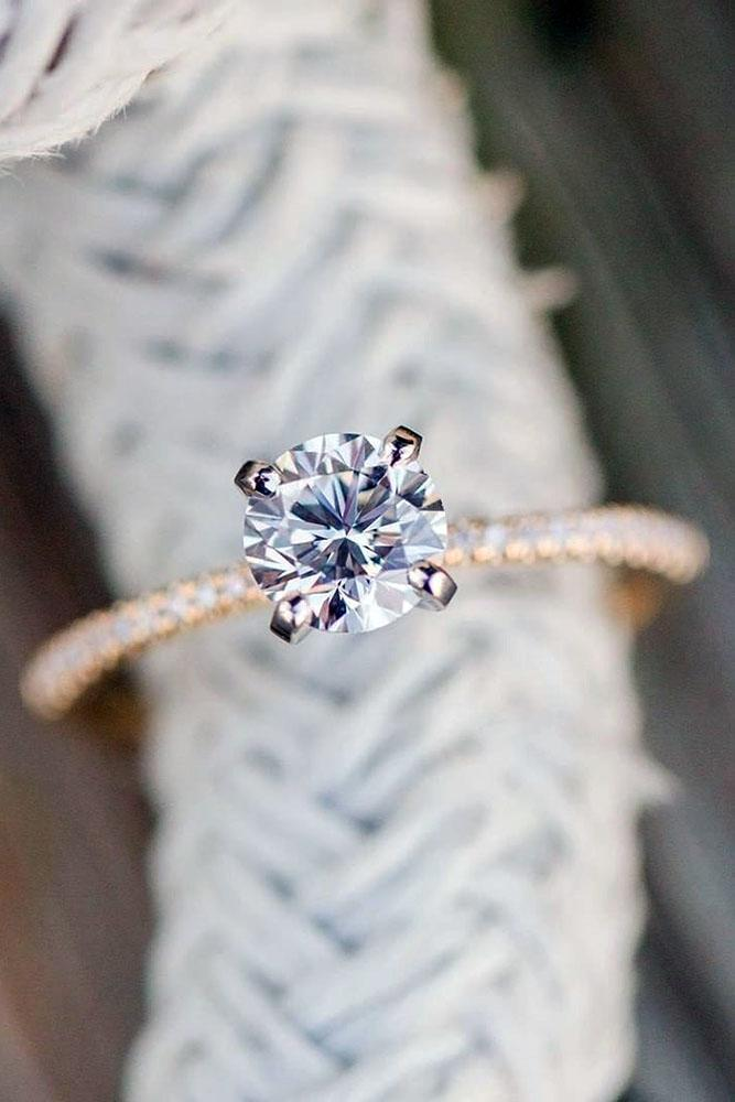 diamond engagement rings round cut diamond engagement rings rose gold engagement rings simple engagement rings