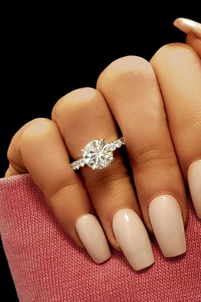 diamond engagement rings round cut diamond engagement rings white gold engagement rings simple engagement rings