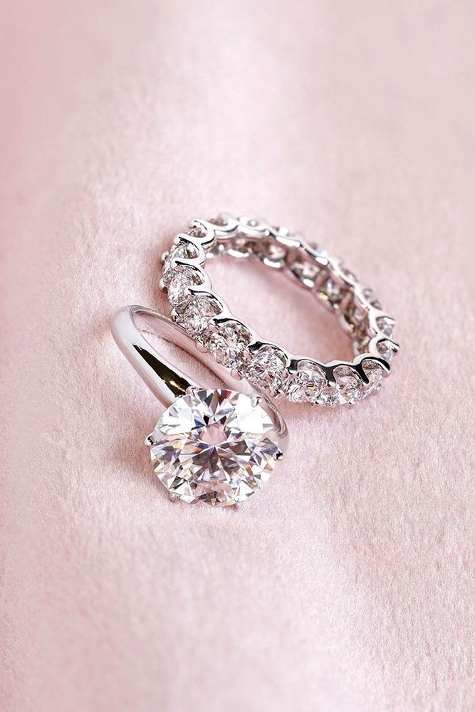 diamond engagement rings round cut diamond engagement rings white gold engagement rings wedding ring sets bridal sets