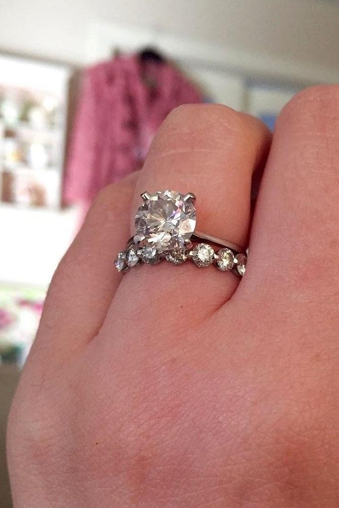 diamond engagement rings round cut diamond engagement rings white gold engagement rings wedding ring sets bridal sets simple rings