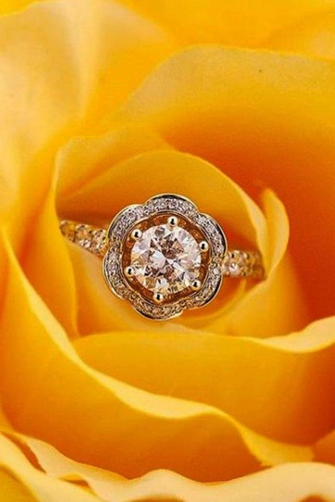diamond engagement rings round engagement rings rose gold engagement rings unique engagement rings best rings floral rings
