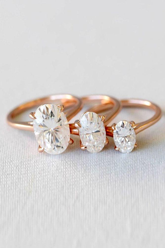 rose gold engagement rings diamond engagement rings oval cut engagement rings simple engagement rings solitaire engagement rings