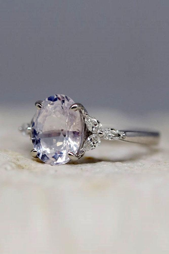 sapphire engagement rings white gold engagement rings floral engagement rings purple sapphire rings diamond rings