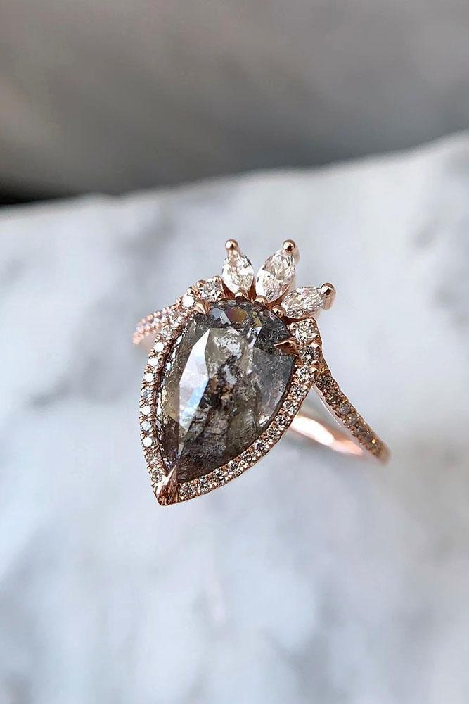 unique engagement rings diamond engagement rings rose gold engagement rings pear shaped engagement rings