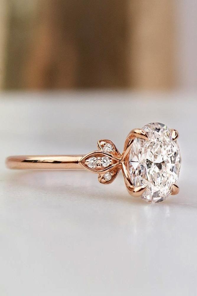 unique engagement rings rose gold engagement rings diamond engagement rings floral rings beautiful rings