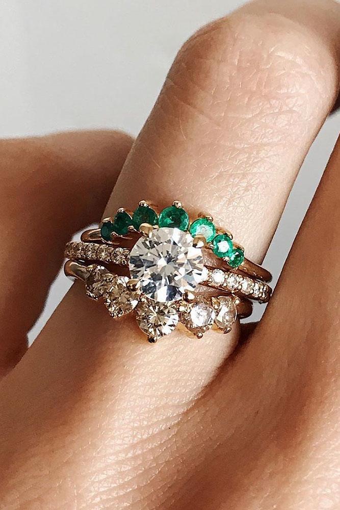 unique wedding rings rose gold wedding rings bridal sets diamond engagement rings unique engagement rings round engagement rings emerald rings