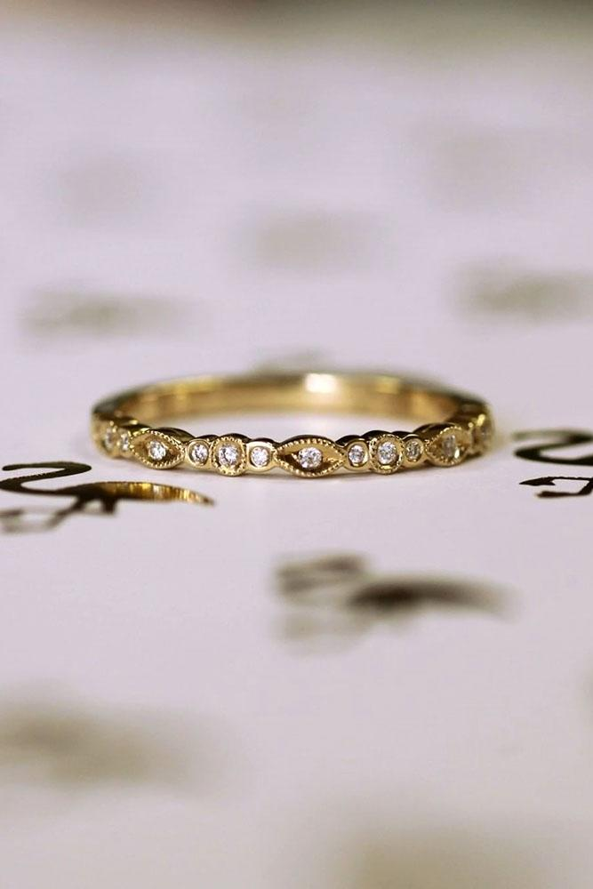 unique wedding rings yellow gold wedding bands diamond wedding rings stackable engagement rings unique wedding bands