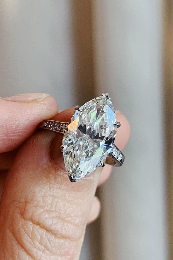 white gold engagement rings marquise cut engagement rings simple engagement rings solitaire engagement rings classic rings