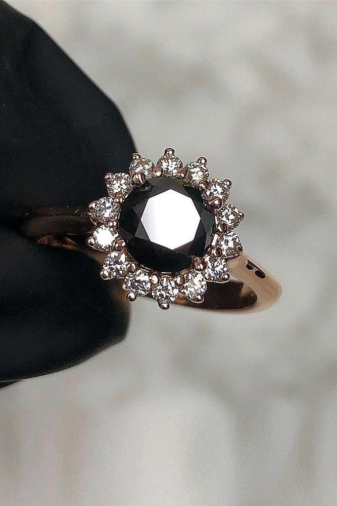 black diamond engagement rings white gold engagement ring unique engagement rings round engagement rings