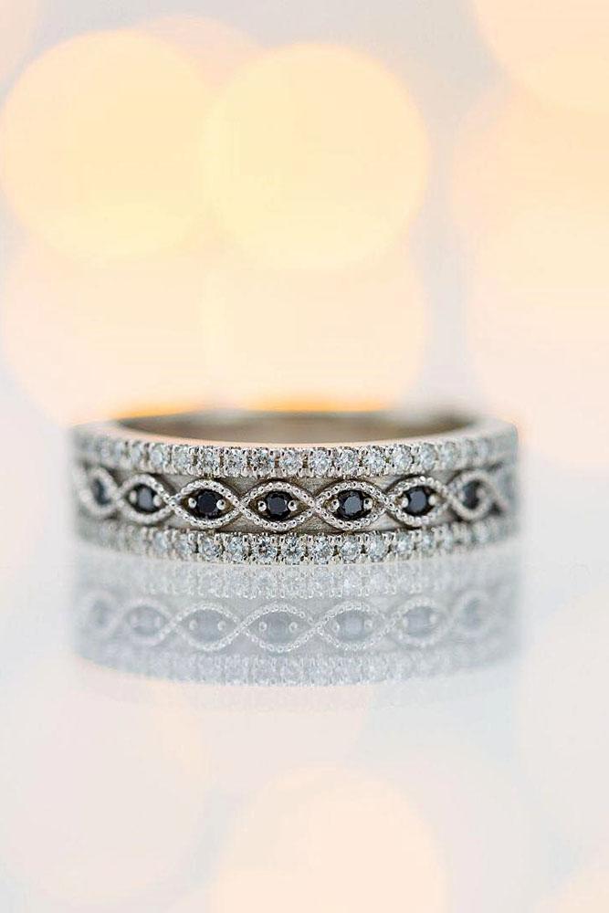 black diamond engagement rings white gold wedding bands unique wedding bands diamond engagement rings bridal sets