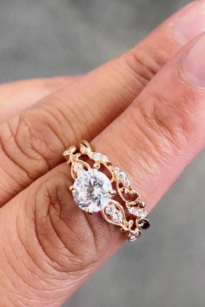 rose gold engagement rings kirk kara engagement rings round diamond engagement rings unique engagement rings vintage engagement rings