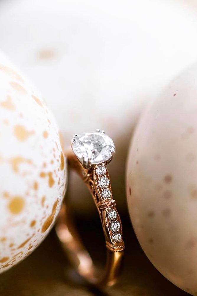 rose gold engagement rings kirk kara engagement rings vintage engagement rings round diamond engagement rings classic engagement rings