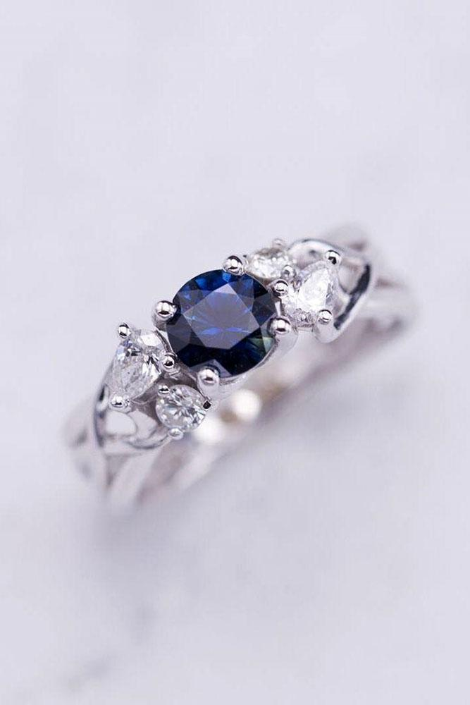 sapphire engagement rings white gold engagement rings unique engagement rings blue sapphire rings