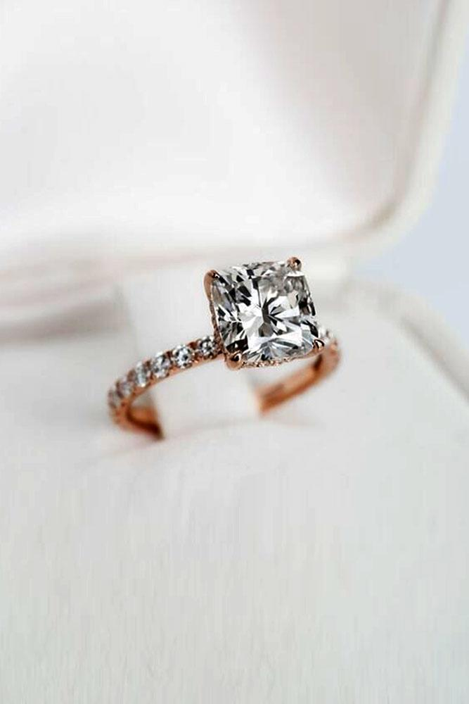simple engagement rings cushion cut engagement rings rose gold engagement rings solitaire engagement rings