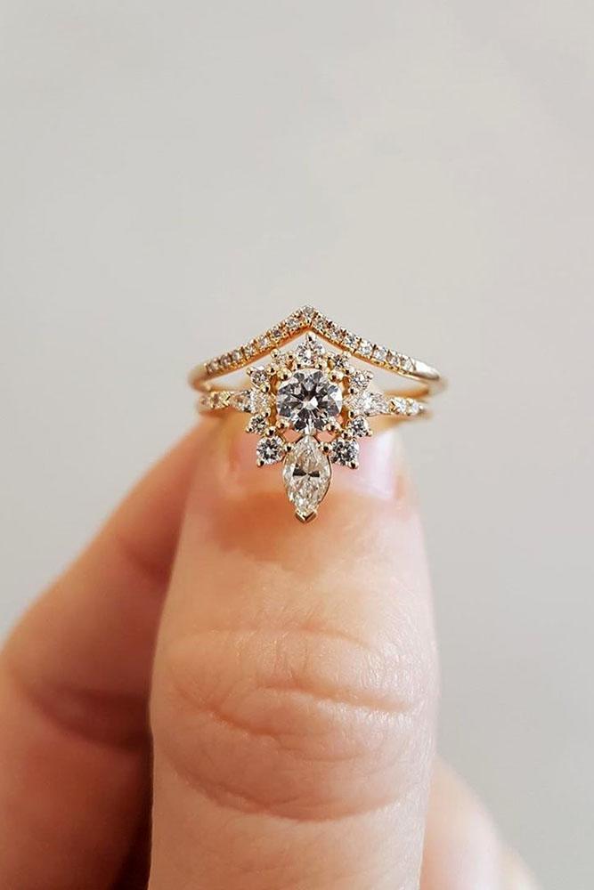 unique engagement rings rose gold engagement rings round engagement rings halo engagement rings