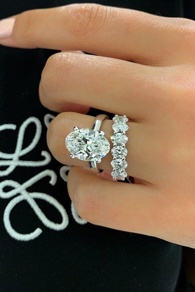 bridal sets oval cut engagement rings diamond engagement rings white gold engagement rings wedding ring sets simple engagement rings