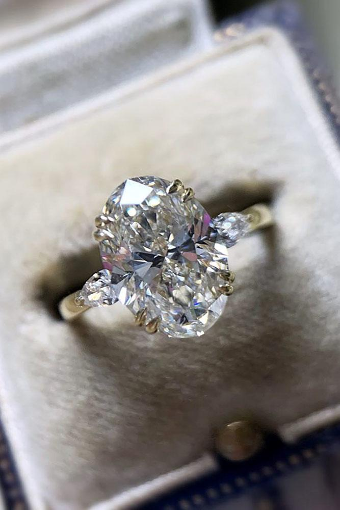 diamond engagement rings oval cut engagement rings white gold engagement rings three stone engagement rings