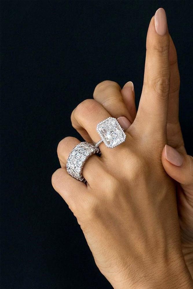 diamond wedding rings white gold engagement rings wedding ring sets bridal sets emerald cut engagement rings best rings halo rings