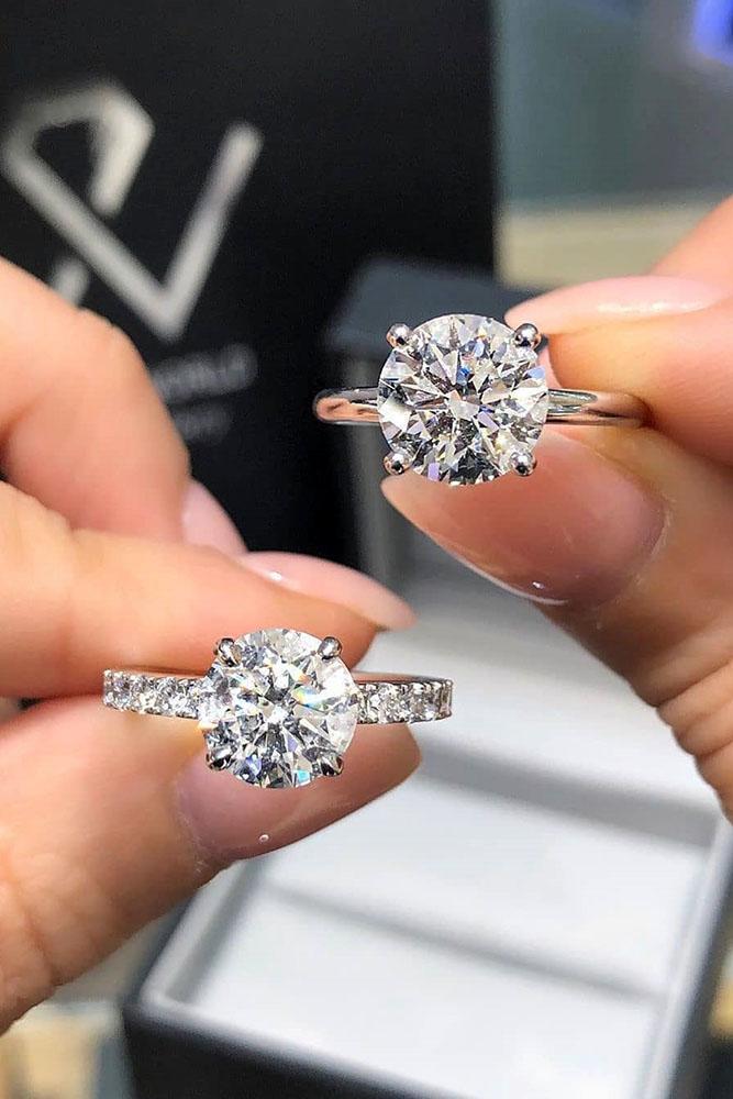 simple engagement rings diamond engagement rings round engagement rings white gold engagement rings solitaire engagement rings