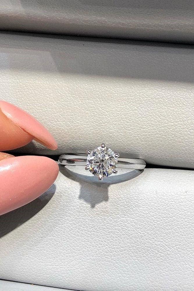 simple engagement rings diamond engagement rings round engagement rings white gold engagement rings solitaire engagement rings ring boxes