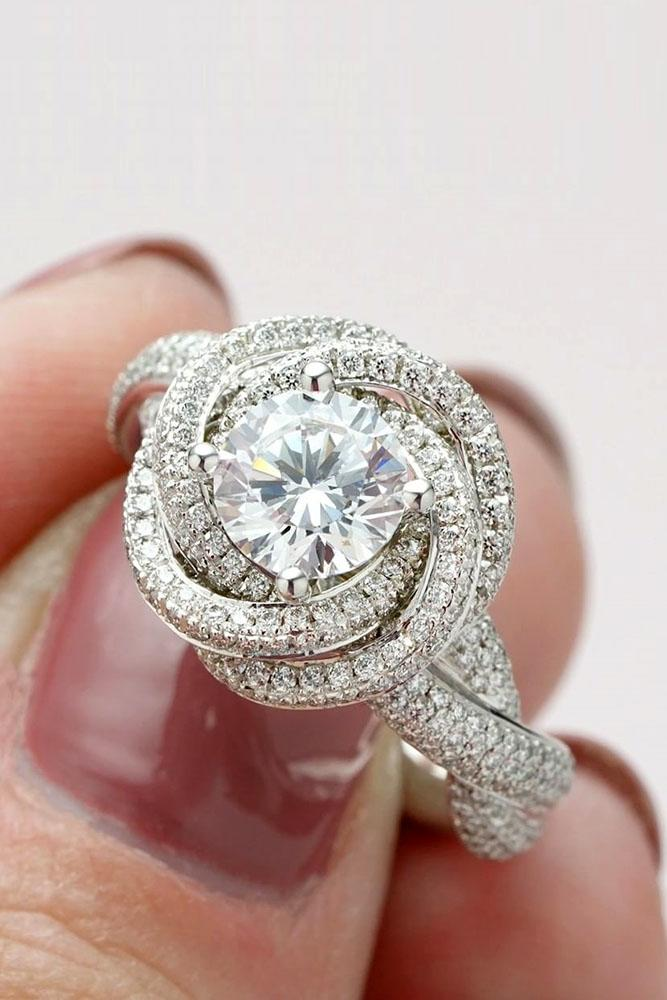 unique engagement rings floral engagement rings white gold engagement rings beautiful engagement rings round diamond rings
