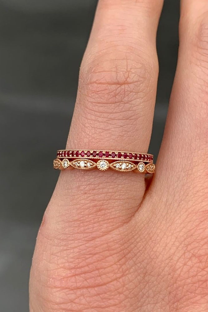 unique wedding rings rose gold wedding bands diamond wedding rings stackable wedding rings unique wedding bands gemstone rings