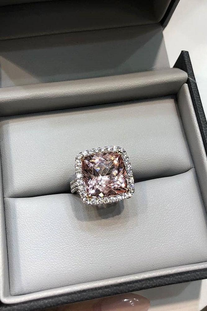 white gold engagement rings cushion cut engagement rings halo engagement rings diamond engagement rings morganite engagement rings