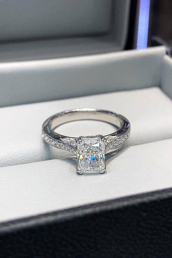 white gold engagement rings diamond engagement rings emerald cut engagement rings best rings simple engagement rings