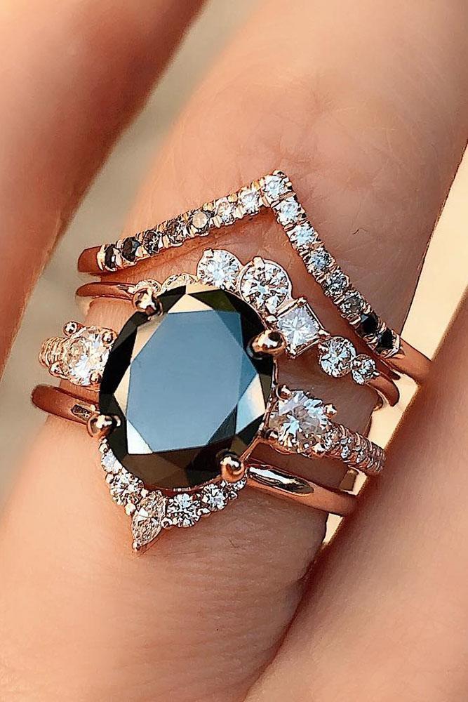 24 Unique Black Diamond Engagement Rings | Oh So Perfect ...