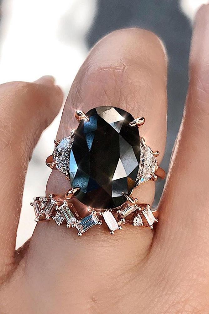 black diamond engagement rings unique wedding ring sets three stone engagement rings rose gold wedding rings oval cut engagement rings