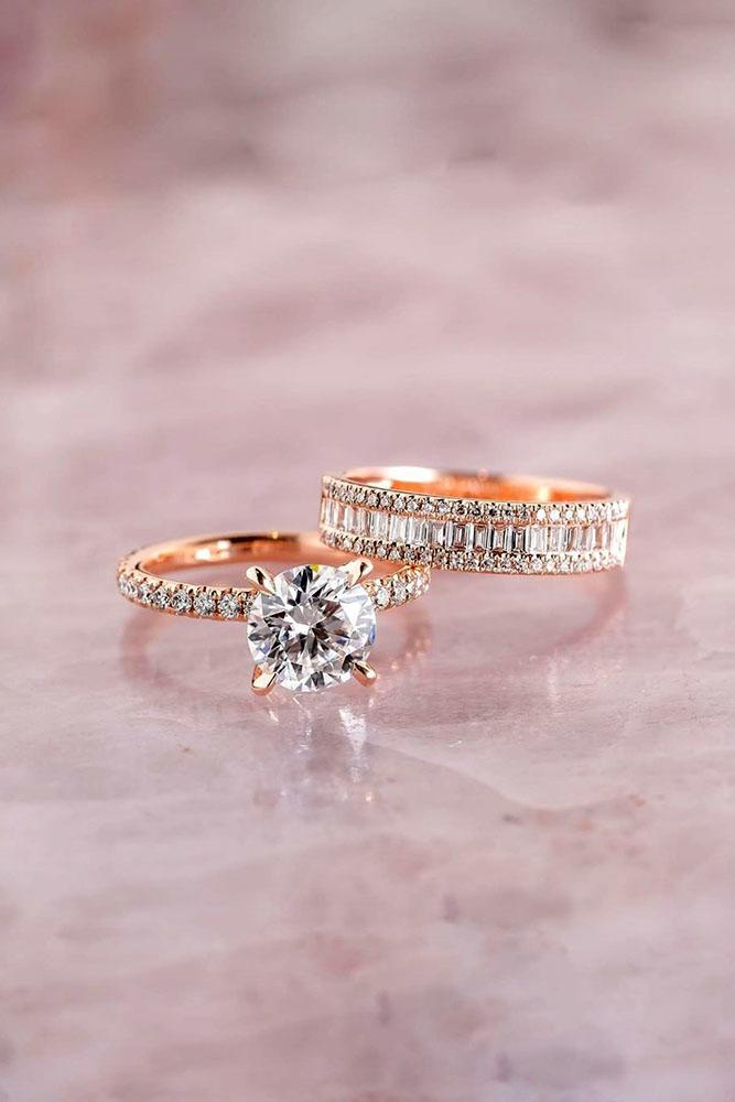 bridal sets rose gold engagement rings rose gold wedding rings wedding bands diamond wedding ring sets diamond rings