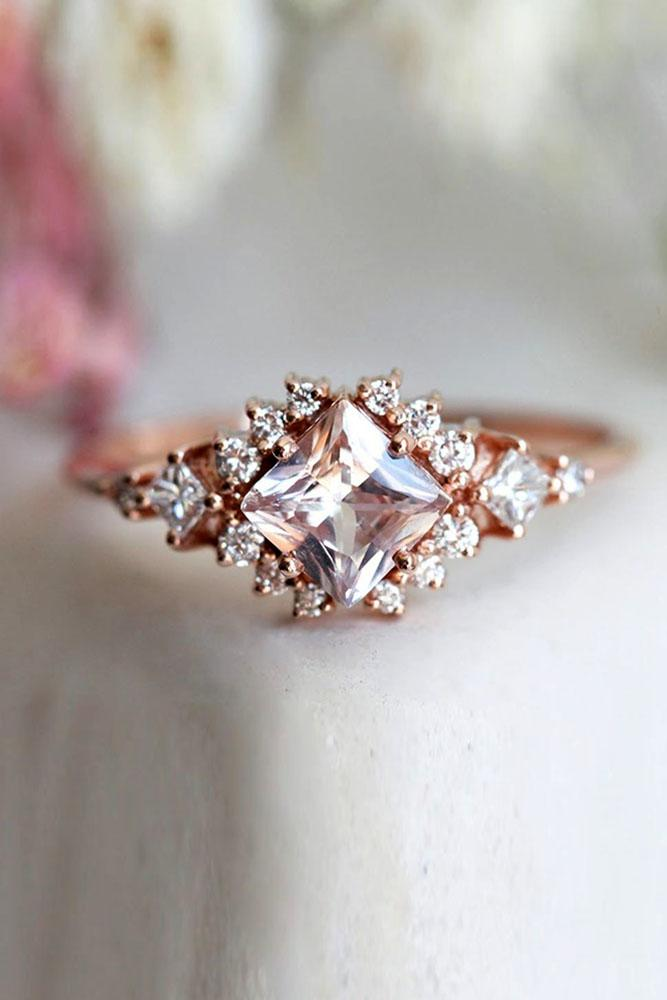 colored engagement rings morganite rings halo engagement rings diamond engagement rings rose gold engagement rings