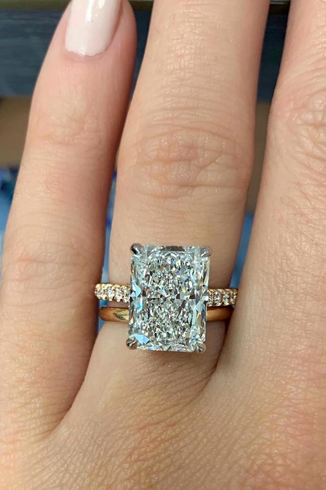 diamond engagement rings white gold engagement rings radiant cut engagement rings simple rings solitaire rings