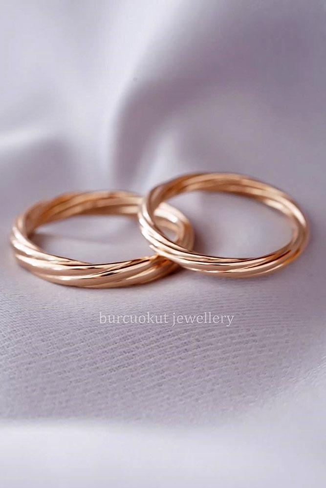 matching wedding bands rose gold wedding rings bridal sets rose gold bridal sets diamond rings unique wedding bands