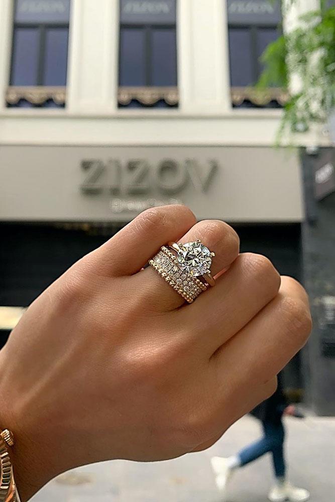 rose gold engagement rings unique wedding rings diamond engagement rings round diamond engagement rings unique bridal sets