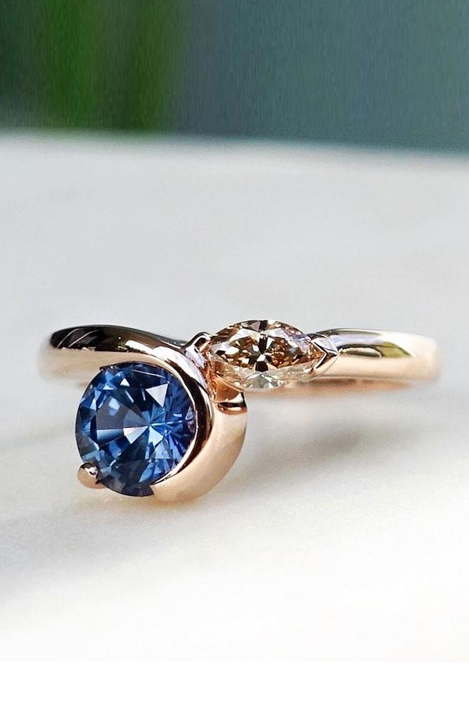 sapphire engagement rings solitaire engagement rings simple engagement rings rose gold engagement rings unique engagement rings