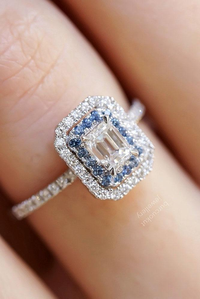 sapphire engagement rings white gold engagement rings unique engagement rings diamond halo engagement rings