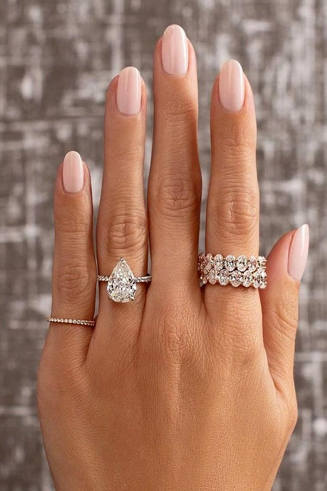 solitaire engagement rings white gold engagement rings pear shaped engagement rings diamond engagement rings bridal sets
