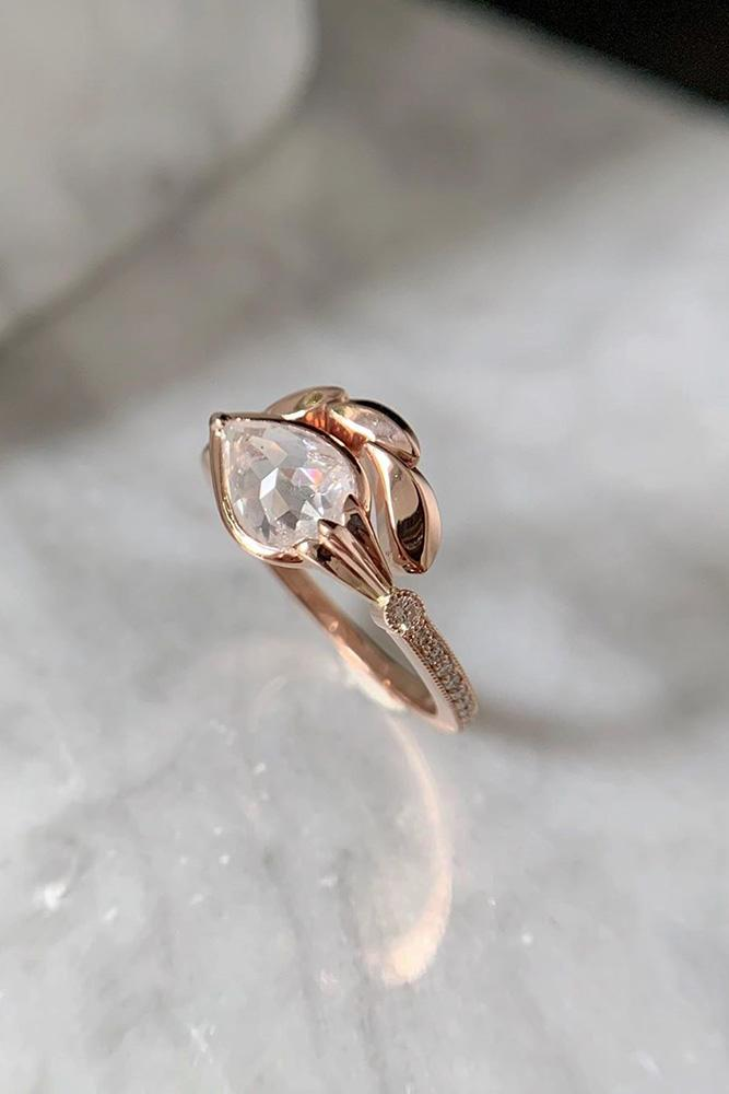 unique engagement rings rose gold engagement rings pear shaped engagement rings best engagement rings
