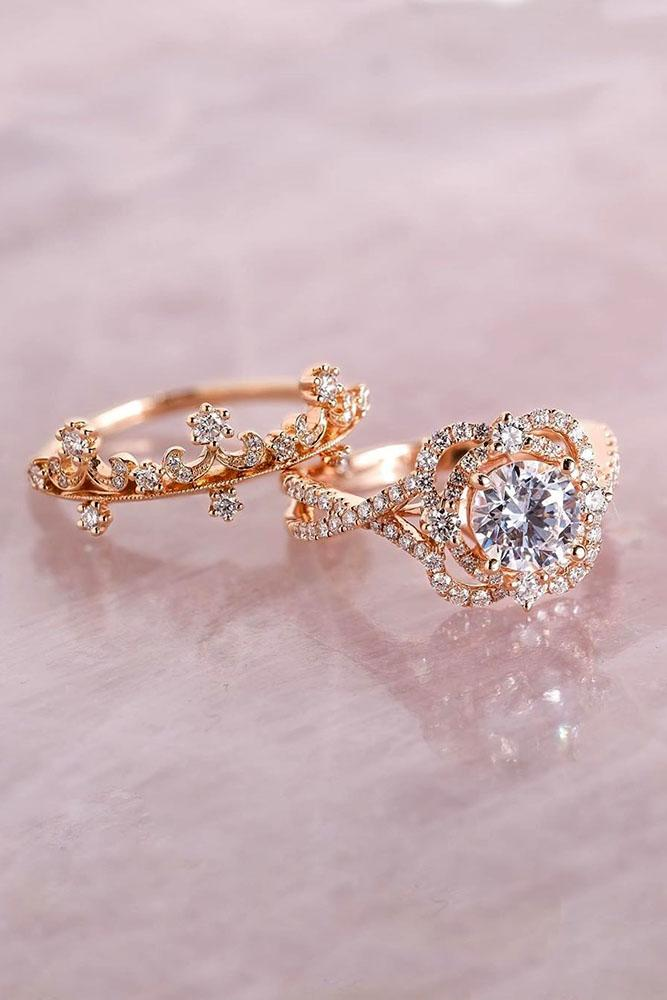 unique wedding rings diamond engagement rings rose gold engagement rings bridal sets