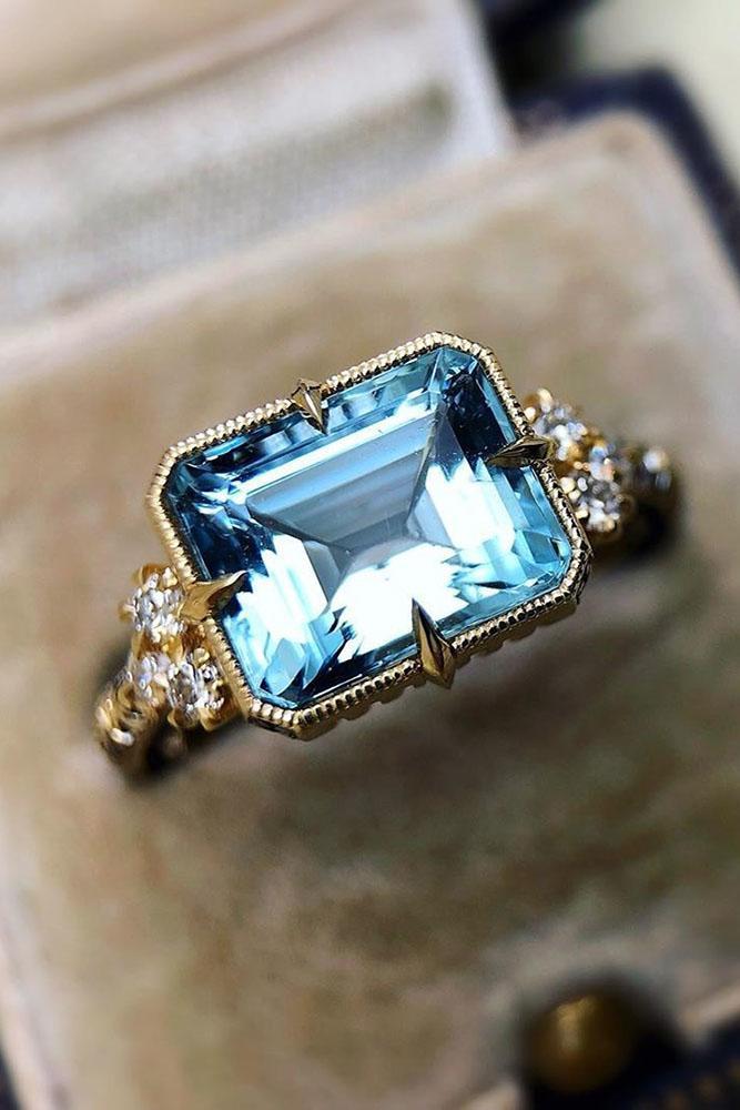 vintage engagement rings rose gold engagement rings unique engagement rings aquamarine engagement rings diamond engagement rings