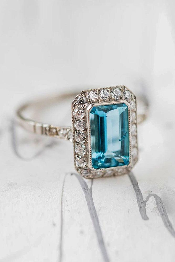 vintage engagement rings white gold engagement rings unique engagement rings aquamarine engagement rings diamond engagement rings